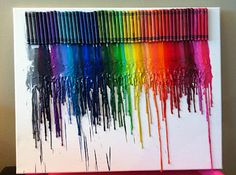 Melting crayons canvas art