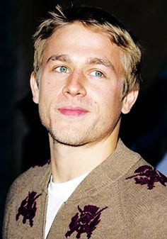 Charlie Hunnam ♥ the blue in his eyes remind me of Greece. Random and cheesy. But it's true haha