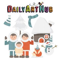 FREE Family Winter Clip Art Set