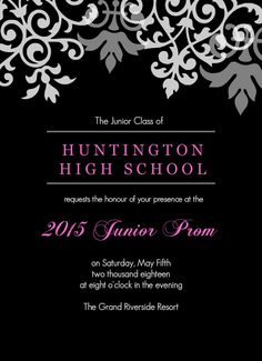 Elegant Fomal Tuxedo Prom Invitation | Prom | Pinterest | Tuxedo, Prom And, Invitation  Templates Intended For Prom Invitation Templates