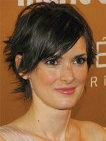 Winona Ryder with short hair front view