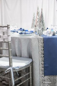 This year, try your hand at a frozen Christmas tablescape Winter is well and truly here, … Frozen Christmas, Christmas Tablescapes, Reception Table, Blue And Silver, Aqua, Inspiration, Design, Home Decor, Christmas Tables