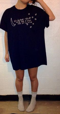 Navy 5SOS Outer Space Tee by CassiesClothing on Etsy