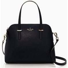 Kate Spade Cedar Street Maise ($298) ❤ liked on Polyvore featuring bags, handbags, shoulder bags, purses, bolsas, accessories, off shore, black leather tote, leather shoulder bag and kate spade crossbody