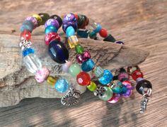 Bead Soup Wrap Bracelet Hippie Handmade by TheHippieBohemian
