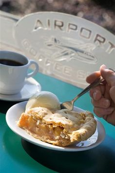 "Awesome pie (some say the best pie in the region) from the Airport Cafe at the Chilliwack Airport. ""We fly for pie!"". via Flickr"