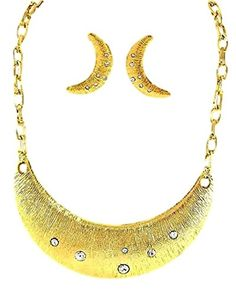 Crescent Moon Necklace Earrings Set BP Clear Crystal Big Chunky Statement Recyclebabe Necklace Sets http://www.amazon.com/dp/B01524N5A0/ref=cm_sw_r_pi_dp_FnWDwb1E1KWMN