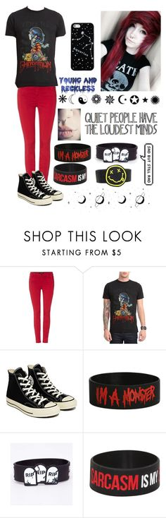"""""""Creepy Girls Your Just My Style"""" by blvrryfacee ❤ liked on Polyvore featuring J Brand, Converse, Young & Reckless and Kate Spade Saturday"""