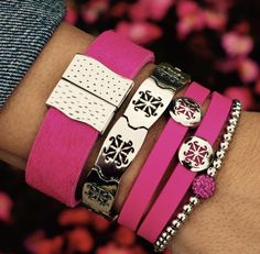 Can't go wrong with pink this Summer! Rustic Cuff, Bangles, Bracelets, Sparkle, Cuff Jewelry, Jewellery, My Style, Pink, Accessories
