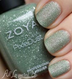 zoya vespa pixie dust nail polish swatch texture spring 2013 500x546 Zoya PixieDust Texture Nail Polish Swatches & Review