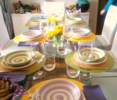 #tablesetting #tableware #miseenplace #lunch #easter