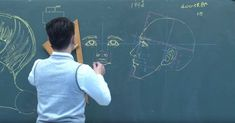 Educator Uses Extraordinary Chalkboard Drawing Skills to Teach Students Anatomy - My Modern Met