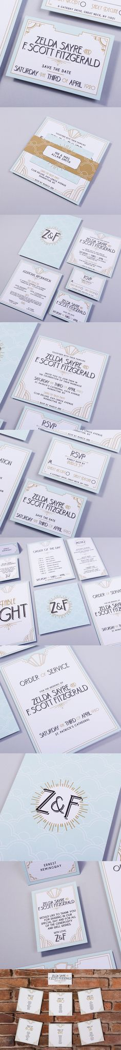 LONG ISLAND, the Long Island design has a 20s art deco feel which is stunning in a pastel/gold colour scheme. Perfect for a Great Gatsby or 20s vintage themed wedding day.