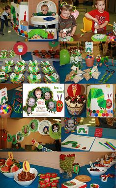 Very Hungry Caterpillar First Birthday Party Collage.  Just had to share, since I got so many of my ideas from Pinterest.  :)