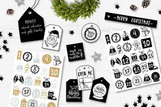 White Scandinavian Christmas by lokko studio on Etsy Christmas, Christmas Clipart, Christmas Quotes, Christmas Cards, Gift Labels, Gift Tags, 2 Advent, Freebies, Header Image