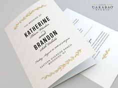 Please read the description & shop policies carefully before purchasing. _____________________________ The Botanical Array Program, from the Little Carabao Studio  This program design features a clean and sophisticated typography accented with botanical elements in gold ink and white background. This design design can be customized from its background color, text color and wording. (No physical items will be sent)  HOW IT WORKS: 1. Add this listing to your cart and provide any details in ...