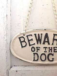 Beware of Dog Sign  Cast Iron  Vintage Inspired by CamillaCotton, $27.50