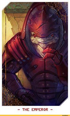 Mass Effect,фэндомы,Wrex,ME персонажи,Alteya,таро