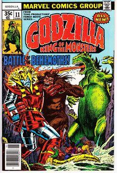 Godzilla Bronze Age Marvel Comics Herb Trimpe F Marvel Comic Books, Comic Books Art, Comic Art, Book Art, Marvel Characters, Vintage Comic Books, Vintage Comics, Marvel Vs, Marvel Comics