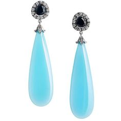 Preowned Laguna Blue Agate Black Spinel Diamond Gold Dangle Earrings ($5,090) ❤ liked on Polyvore featuring jewelry, earrings, blue, dangle earrings, blue diamond jewelry, gold earrings, diamond earrings, yellow gold earrings and gold round earrings