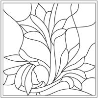 Source for Stained Glass Patterns which can be used for quilts. Stained Glass Quilt, Stained Glass Flowers, Stained Glass Designs, Stained Glass Projects, Stained Glass Patterns, Mosaic Patterns, Painting Patterns, Stained Glass Windows, Applique Patterns