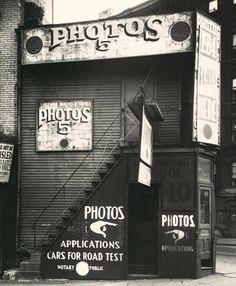 License Photo Studio, New York, 1934 Walker Evans