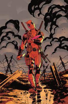 X-Men: Battle of the Atom #1variant cover - Deadpool by David Lopez