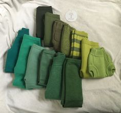 Sloomb greens: Pine, Scout, Thyme, Vetiver, Garden, Versailles, Galinka. Beetle, Lacuna, Jade, Fern, Siren, and Muse. Sewing Baby Clothes, Diapering, Colour Inspiration, Cool Baby Stuff, Cloth Diapers, Versailles, Baby Wearing, Fern, Beetle
