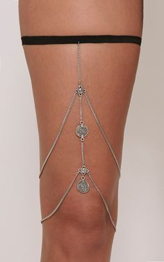 Cassey Silver Chain Leg Harness Image 3