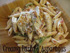 Creamy Pasta & Asparagus Recipe