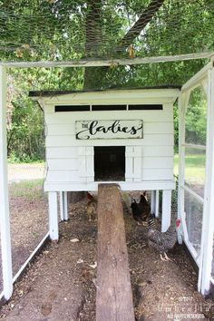 Chicken Coop - Chicken Coop - DIY Chicken Coop Sign Building a chicken coop does not have to be tricky nor does it have to set you back a ton of scratch. Building a chicken coop does not have to be tricky nor does it have to set you back a ton of scratch. Chicken Barn, Easy Chicken Coop, Chicken Coup, Portable Chicken Coop, Backyard Chicken Coops, Chickens Backyard, Chicken Signs, Chicken Coop Plans Free, Backyard Coop