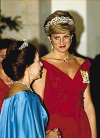Diana with Princess Margaret