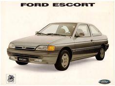 1994 Ford Escort Ghia - Brasil Ford Escort, Retro Ads, Ford Motor Company, All Cars, Verona, Lamborghini, Classic Cars, Advertising, British