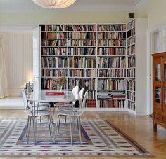 Corner #library #shelving