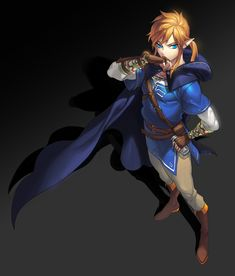 Link (Breath of the Wild) - Zelda no Densetsu: Breath of the Wild - Image - Zerochan Anime Image Board The Legend Of Zelda, Legend Of Zelda Breath, Link Fan Art, Monster High Boys, Link Botw, Ben Drowned, Twilight Princess, Breath Of The Wild, Character Concept