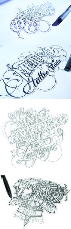 Gorgeous hand-drawn typography by Martin Schmetzer (http://www.martinschmetzer.com/)