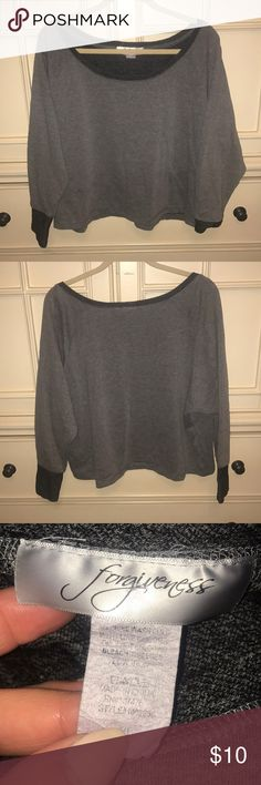Forever 21 sweater It's one side off shoulder. No flaws. Forever 21 Tops Sweatshirts & Hoodies