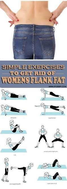 8 Simple Exercises to Get Rid of Women's Flank Fat