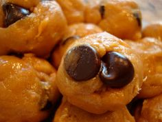 No-Bake Vegan Peanut Butter Chocolate Chip Cookie Dough Balls with Extra Protein Option