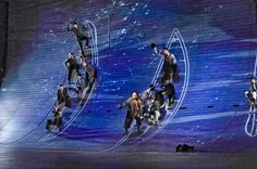 """I really like the idea of having steps or footholds in the wall like in this picture. Uses elevation to make staging look interesting. """"Moby Dick"""" - The Opera, San Diego Opera, Wow! Design Set, Stage Set Design, Set Design Theatre, Prop Design, Moby Dick, San Diego, Theatre Stage, Scenic Design, Stage Lighting"""