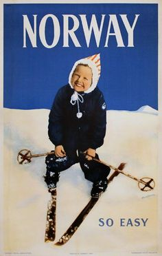 travel to norway poster Ski Vintage, Vintage Ski Posters, Retro Graphic Design, Vintage Graphic, Snow Activities, Tourism Poster, Graphic Artwork, Illustrations And Posters, Vintage Advertisements