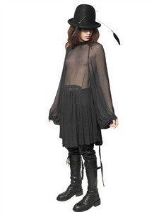 Ann Demeulemeester - Techno Georgette Dress   FashionJug.com
