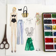 #ootd @modaoperandi #watercolor #fashionillustration