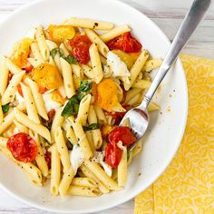 Penne with Roasted Tomatoes and Mozzarella