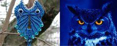Bufnita macrame handmade - colier in forma de bufnita. Online Gallery, Macrame, Owl, Bird, Colors, Animals, Animales, Animaux, Owls