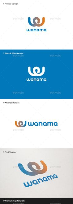 Wanama  Letter W Logo — Vector EPS #portfolio #personal • Available here → https://graphicriver.net/item/wanama-letter-w-logo/10816135?ref=pxcr