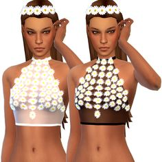 My Sims 4 Blog: Daisy Sheer Top by Littlebigshortie