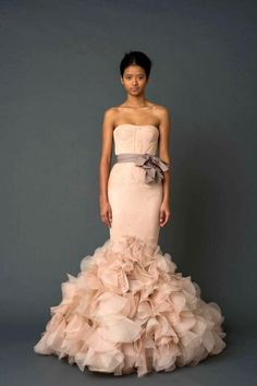 Vera Wang Blush Gown - If only in white CAN THESE be our Bridesmaid dresses, please Brittani?!