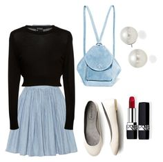 """""""Jeany Bluea"""" by nerdykat-cat ❤ liked on Polyvore featuring art"""