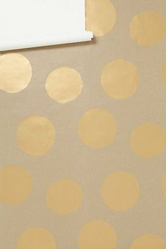 brown kraft paper with gold paint dots for a tablecloth! Ohhhh! Good idea! Use a stamp or punch for color!